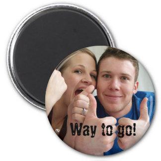 Way to go! 6 cm round magnet