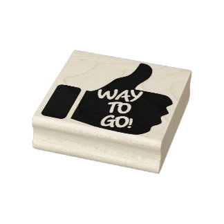 """Way To Go!"" Thumbs Up Rubber Art Stamp"