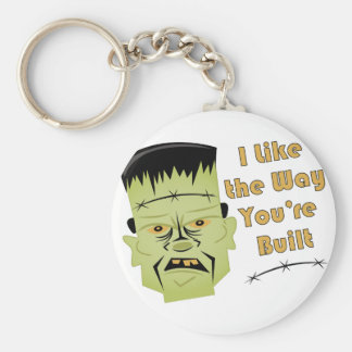 Way Youre Built Basic Round Button Key Ring