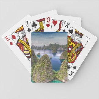 Wayag Island landscape, Indonesia Poker Deck