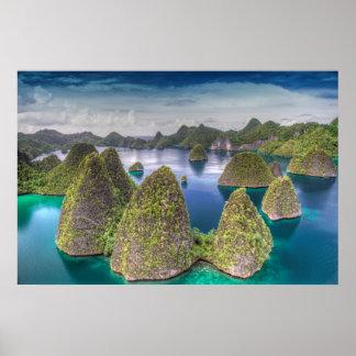 Wayag Island landscape, Indonesia Poster