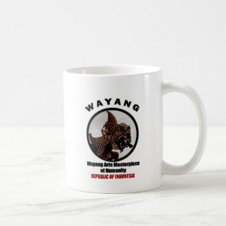 Wayang Arts Masterpiece Of Humanity Basic White Mug