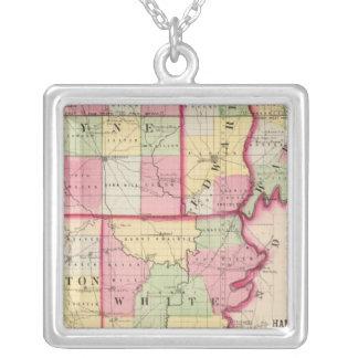 Wayne, Edwards, Wabash, Hamilton, White counties Silver Plated Necklace