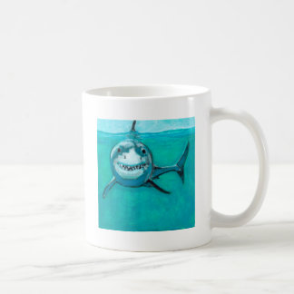 """Wayne"" The Great White Shark Coffee Mug"