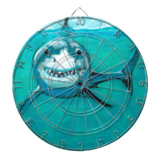 """Wayne"" The Great White Shark Dartboard"