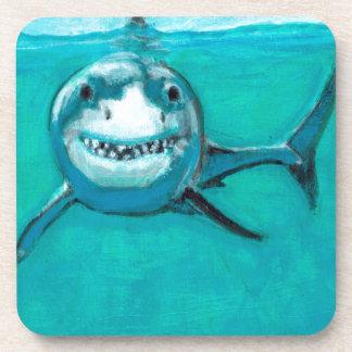 """Wayne"" The Great White Shark Drink Coasters"