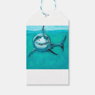 """Wayne"" The Great White Shark Gift Tags"