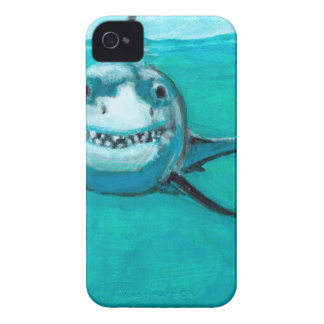 """Wayne"" The Great White Shark iPhone 4 Case"