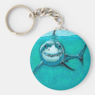 """Wayne"" The Great White Shark Key Ring"