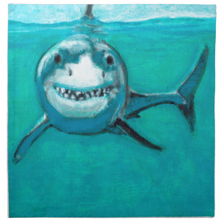 """Wayne"" The Great White Shark Napkin"