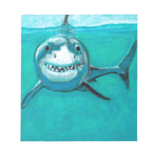 """Wayne"" The Great White Shark Notepad"