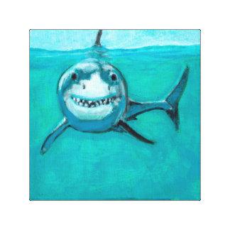 """Wayne"" The Great White SharkThe great white shark Canvas Print"