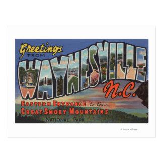 Waynesville, North Carolina - Large Letter Scene Postcard