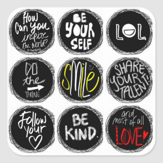 Ways To Inspire The World Square Stickers