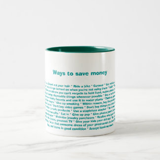 """Ways to save money"" mug"