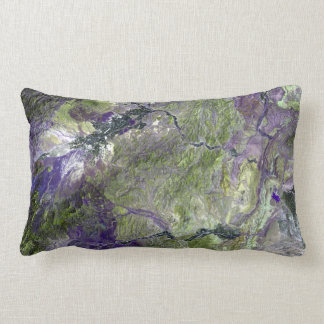 Waziristan Hills Satellite Image Pillow