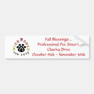 wbloglargeA, Fall Blessings...Professional Pet ... Bumper Sticker