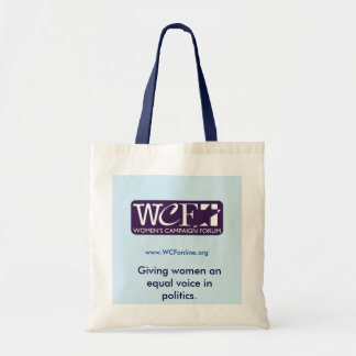 WCF equal voice tote Budget Tote Bag
