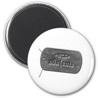 =WCK= DogTag icon 6 Cm Round Magnet