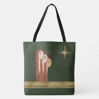 We 3 Kings - Art Deco Christmas Personalised Tote Bag