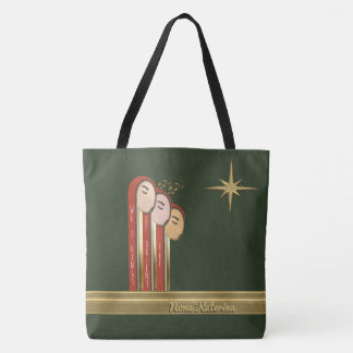 We 3 Kings - Art Deco Christmas Personalized Tote Bag