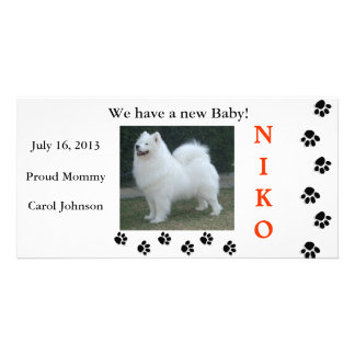 WE ADOPTED-A-PET PHOTO CARD