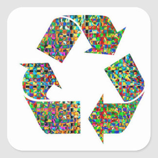 We adore Recycle Champion nvn236 Green Environment Square Sticker