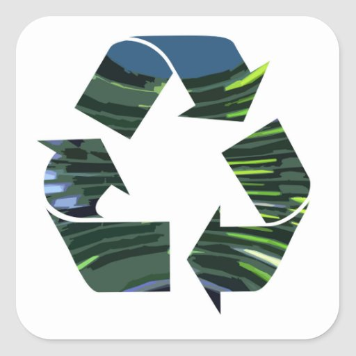 We adore Recycle Champion nvn236 Green Environment Square Stickers