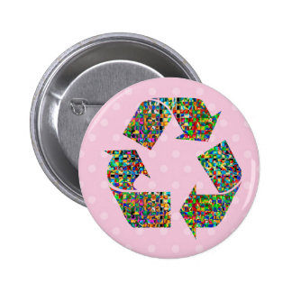 We adore Recycle Champions Button