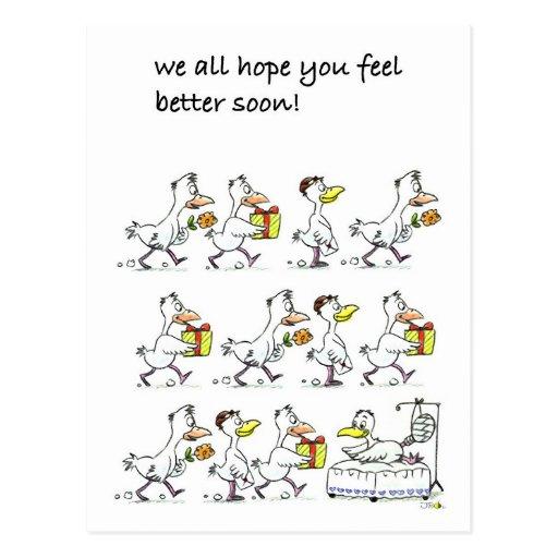 We all hope you feel better soon! postcard