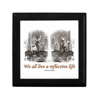 We All Live A Reflective Life (Wonderland) Small Square Gift Box