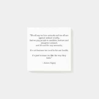 We All Love Animals: James Aspey Quote Post-it Notes