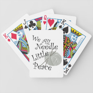 We All Needle Littel Peace Knitting Art Bicycle Playing Cards
