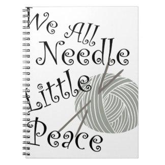 We All Needle Littel Peace Knitting Art Notebooks