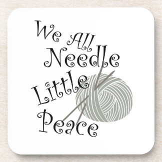 We All Needle Little Peace Zen Knitting Coaster