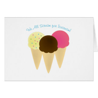 We All Scream Greeting Cards