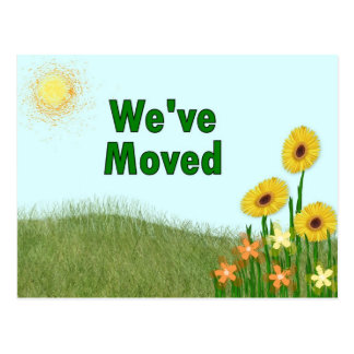 We've Moved Postcard