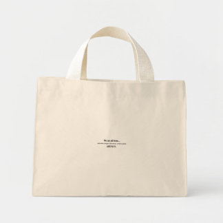 we are all born artists tote bag