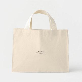 we are all born artists mini tote bag
