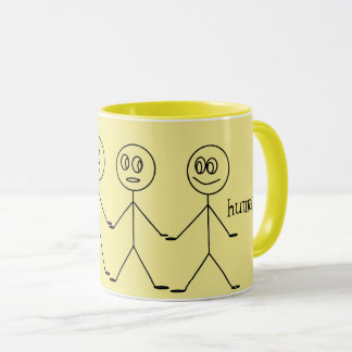 We are ALL HUMANS Cute Stick Figures Equality Mug