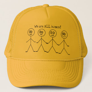 We are ALL HUMANS Cute Stick Figures Equality Trucker Hat