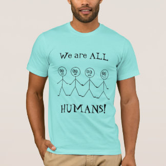 We are ALL HUMANS Stick Figures Men's T-shirt