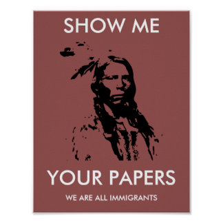 We Are All Immigrants: Custom Protest Poster