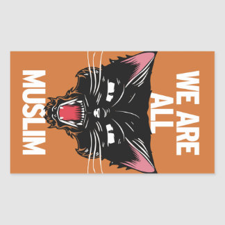 We Are All Muslim Sticker