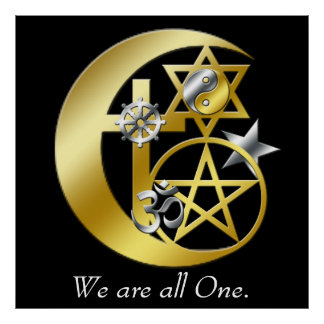 """""""We are all one."""" Poster"""