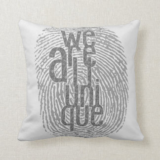 We Are All Unqiue Throw Pillows