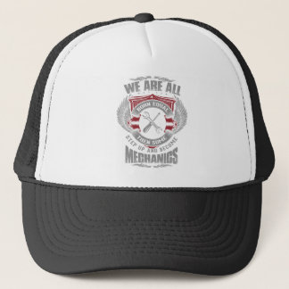 We are born equal but some become Mechanics Trucker Hat