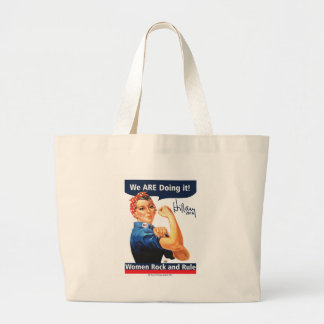 We ARE Doing it-Hillary 2016 Large Tote Bag