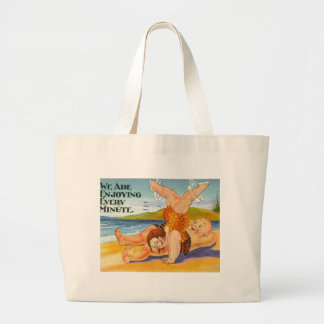We Are Enjoying Every Minute Vacation Vintage Canvas Bags