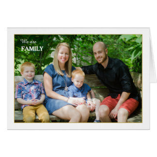We Are Family Folded Photo Card